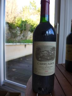 1985 Carruades de Lafite Rothschild, 2nd wine Chateau Lafite Rothschild - Pauillac - 1 Flaska (0.75 l)