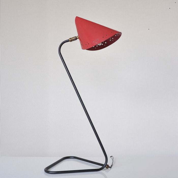 Fabrikant onbekend - Floor lamp, Table lamp, French conical lampshade