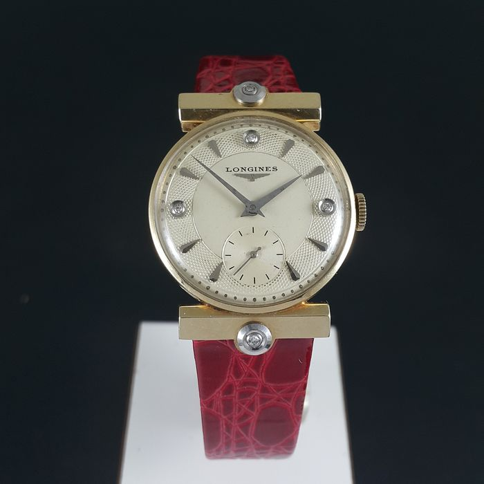 Longines - 14K Gold & Diamond - 170092 - Unisex - 1950-1959
