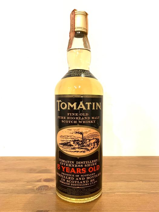 Tomatin 5 years old Fine Old Pure Highland Malt - Original bottling - b. 1970s - 75cl