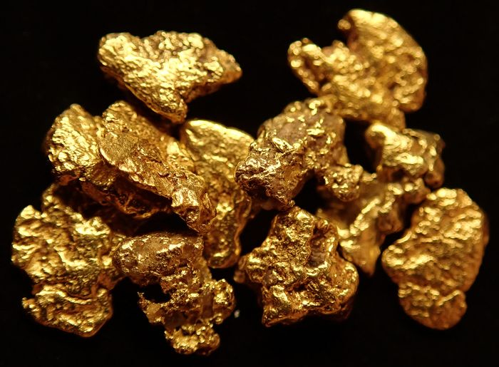 Lot Natural Gold Nugget Alaska in a Special  Shape and Size 5.150ct - 1.03 g