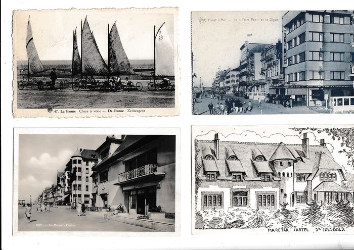 Belgium - Miscellaneous - The coast - Postcards (Collection of 256) - 1911