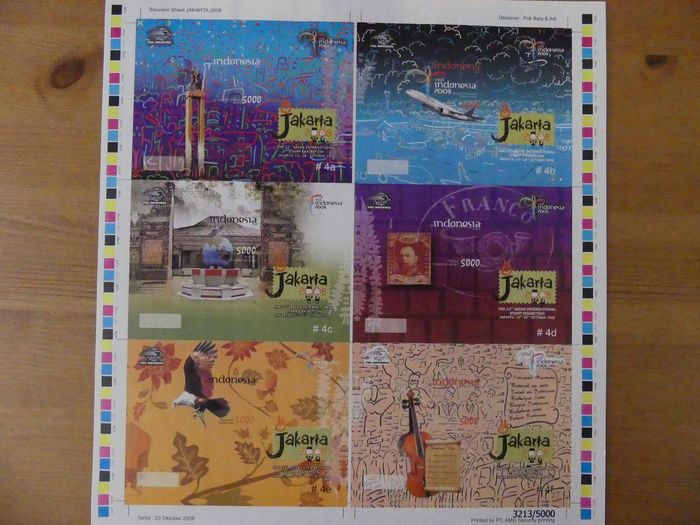 Indonezja 1996/2008 - Collection of stamps, sets, blocks and sheets in stock book