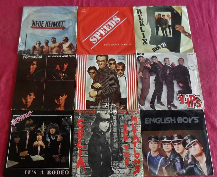 Various Artists/Bands in New Wave, Various Artists/Bands in Punk - Multiple artists - Multiple titles - 45 rpm Single - 1977/1988