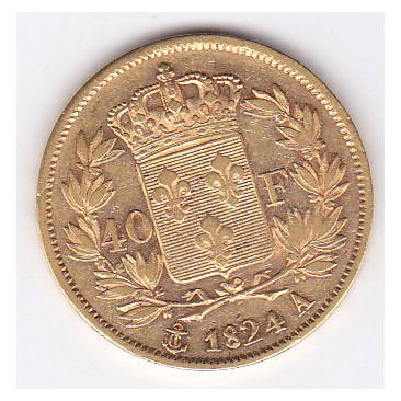 40 Francs 1824-A Charles X - Or