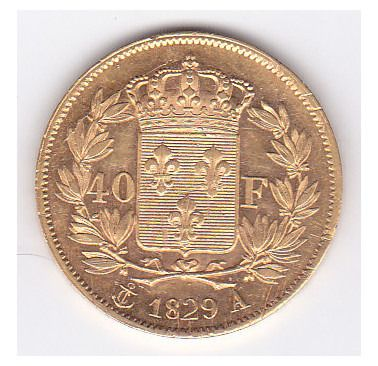 40 Francs 1829-A Charles X - Or