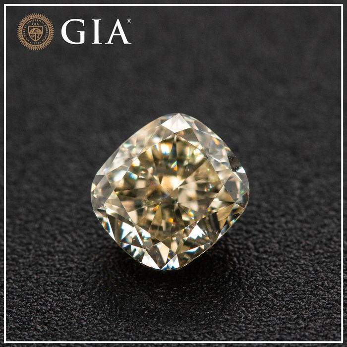 Diamante - 1.02 ct - Almofada - W to X Range - light yellow - VS1