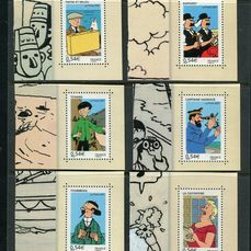 Frankrijk 2007 - Rare Tintin series 4051 to 4056 from the book - Only 40,000 copies of each printed