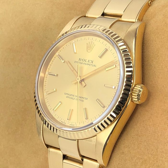 Rolex - Oyster Perpetual 18k  - 14238 - Unisex - 1990-1999