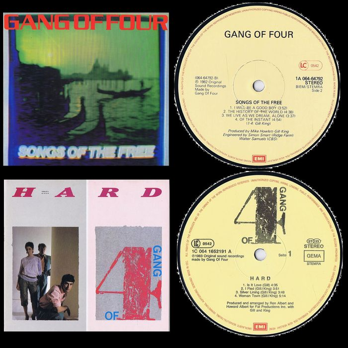 The Gang Of Four - 1. Songs Of The Free 2. Hard - Multiple titles - LP's - 1982/1983
