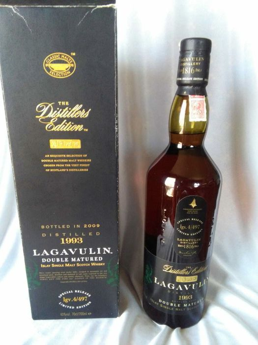 Lagavulin 1993 Distillers Edition - Original bottling - b. 2009 - 70cl