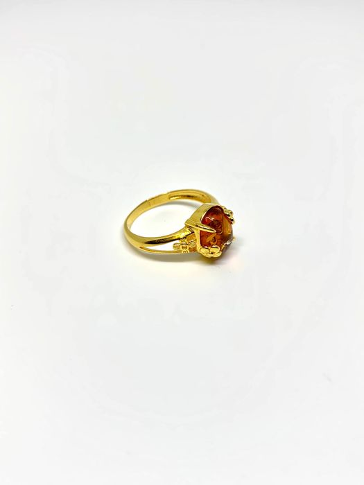 21,6 K Ouro amarelo - Anel - 1.85 ct Amber