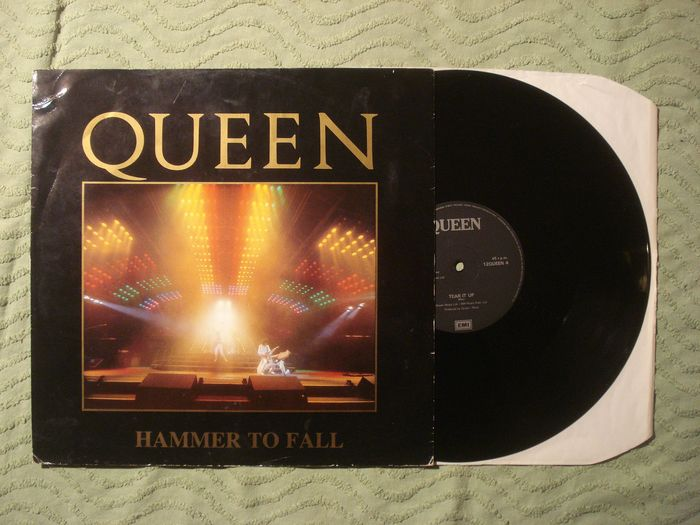 """Queen - Hammer to fall - 12"""" withdrawn sleeve - Single 45 rpm - 1984/1984"""