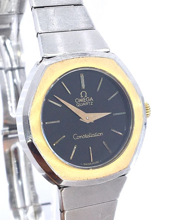 Omega - Constellation - with 18K Gold Logo in Claps - Femei - 1980-1989