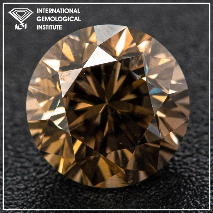 Diamante - 1.49 ct - Brillante - Fancy Grey-Brown - SI1