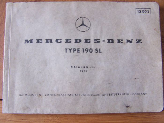 Livres - Mercedes-Benz 190SL Catalog C 1959 - Mercedes-Benz - 1950-1960