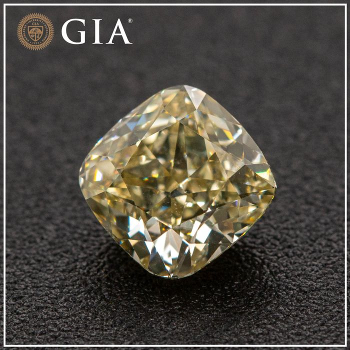 Diamant - 1.12 ct - Coussin - fancy light brownish yellow - VS1, No Reserve Price