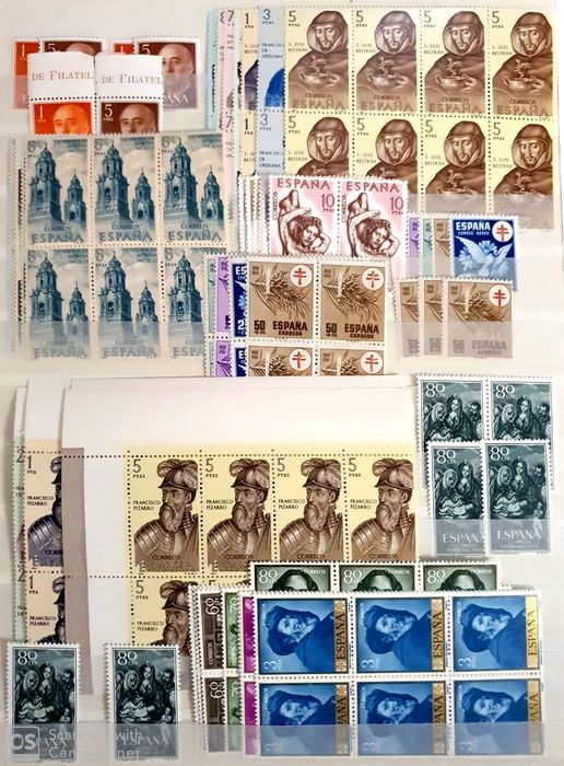 Spanje - Accumulation of stamps in stockbook, including different types and periods - Edifil