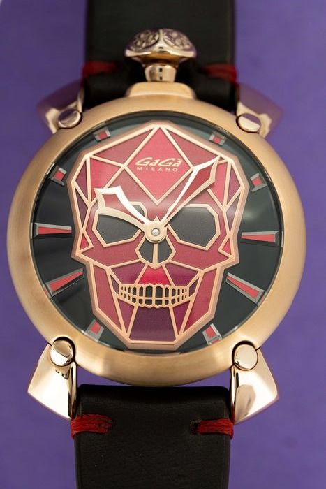 GaGà Milano - Mechanical Manuale Bionic Skull 48MM Rose Gold Tone Pink and Purple LIMITED EDITION - 5061.03S - Herren - BRAND NEW