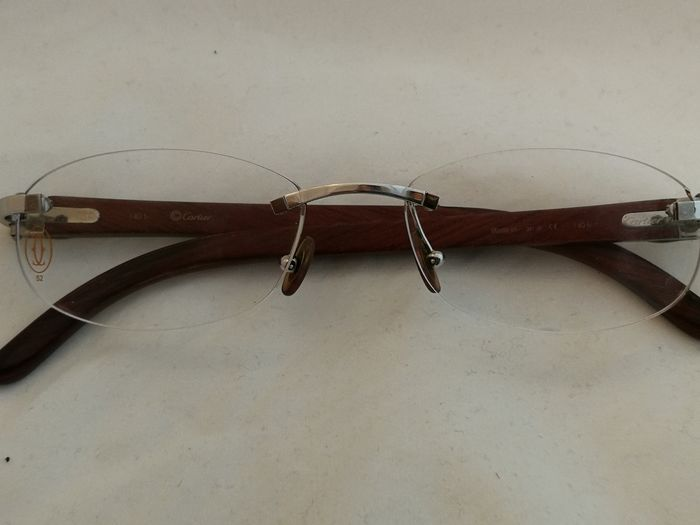 Cartier - Carved Rosewood - 140 Sunglasses