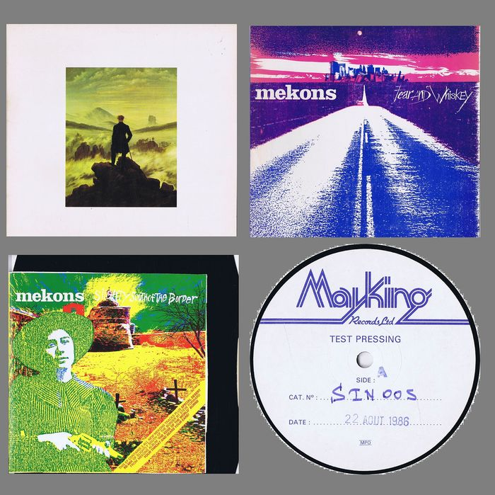 "The Mekons: 1. The Mekons 2. Fear and Whiskey - 3. Slightly South Of The Border  - (1x ""Mayking"" 12"" test-pressing EP + 2x LPs) - 1980/1986"