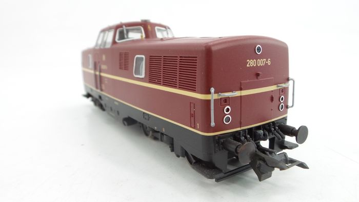 Roco H0 - 63381 - Diesel locomotive - BR 280 in red color with yellow accents - DB