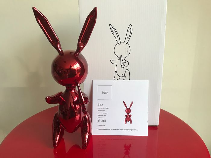 Jeff Koons (after) - Red Balloon Rabbit
