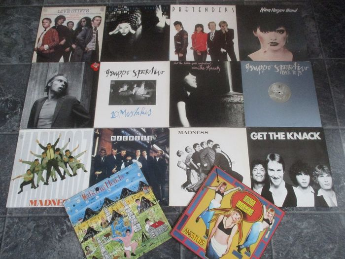 Various Artists/Bands in New Wave, Various Artists/Bands in Ska & Reggae - 14 Great Records with; Pretenders, Talking Heads, Madness, Nina Hagen, Knack, Lene Lovich and others - LP Album, LP's - 1977/1985