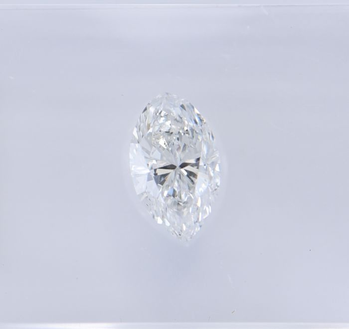 1 pcs Diamant - 0.51 ct - Marquise - F - SI2, No Reserve Price!