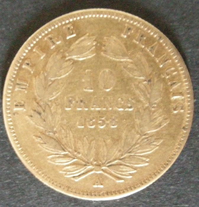 10 Francs 1858-A Napoleon III - Or