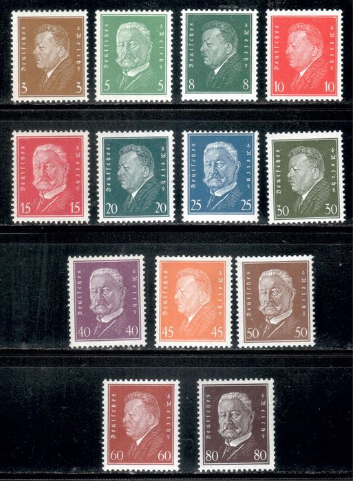 Duitse Rijk 1928 - Presidents of the Reich, complete - Michel 410-422