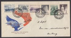Holandia 1950 - FDC Summer stamps without the text 'zomerzegels 1950' - NVPH E1a