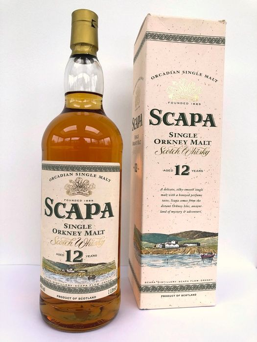 Scapa 12 years old - Original bottling - b. Anni '90 - 1,0 litri