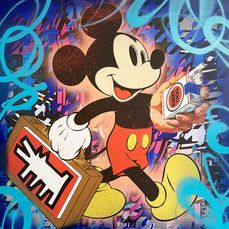 Dillon Boy - Mickey Mouse / Art is Not a Crime (Keith Haring)
