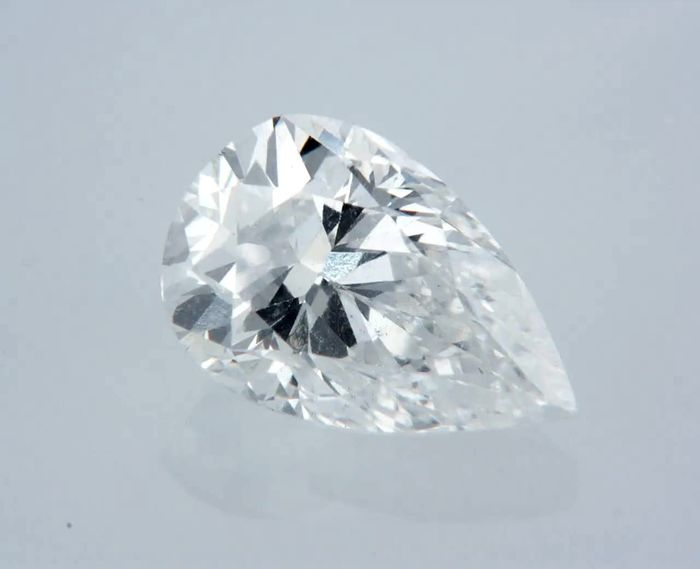 1 pcs Diamante - 1.01 ct - Pera - D (incolor) - VS2