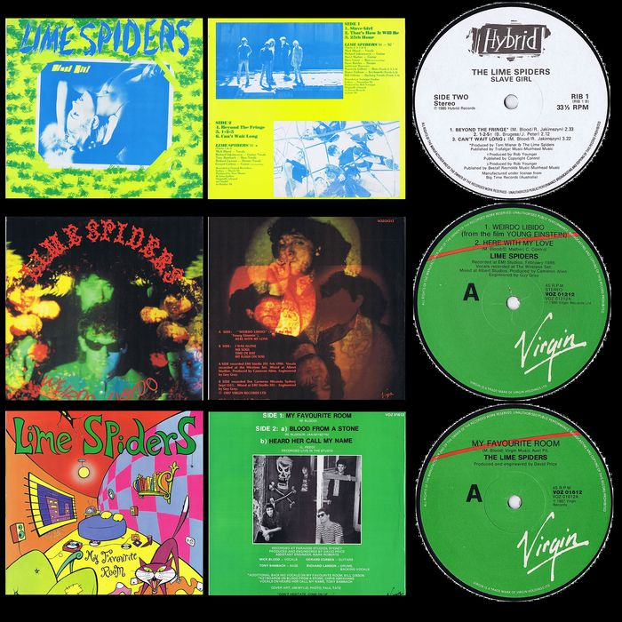 """Lime Spiders - Multiple titles - Lot of 1x 12"""" EP plus 2 mini-LPs - 1985/1987"""