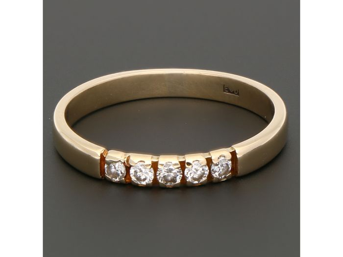 14 kt. Gold - Ring - 0.15 ct Diamond