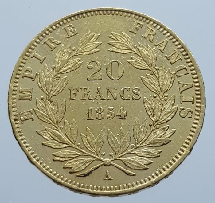20 Francs 1854-A Napoleon III - Or