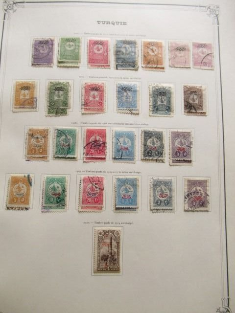 Türkei 1901/1921 - Almost complete collection of stamps, including varieties.
