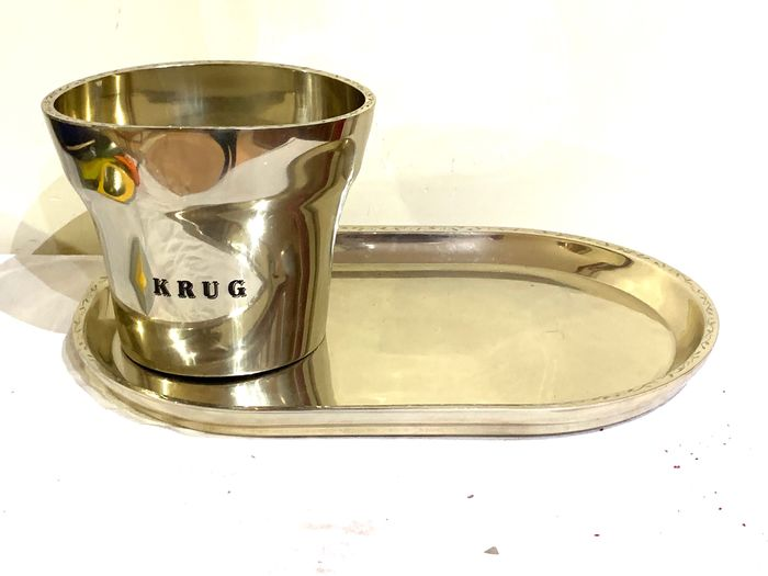 Krug Champagne Cooler with serving plate designed by Francois Bauchet - Champán - 2 items