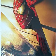 "Spider-man (2002)  - Sam Raimi - Poster, Original US Cinema release - Teaser 1 Sheet - Recalled ""Twin Towers"" version"