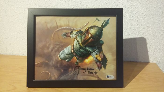 Star Wars - Jeremy Bulloch (Boba Fett) - Autografo, Fotografia, Signed with COA, Framed
