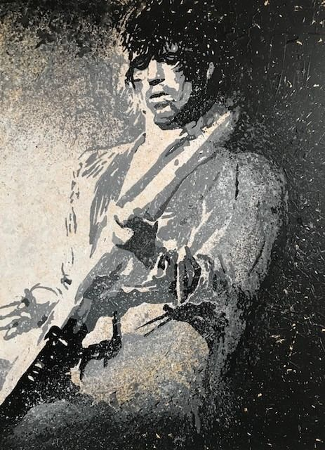 The Rolling Stones, Keith Richards - Artwork/ Painting - 2020/2020