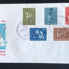 Pays-Bas 1954 - FDC Children's Aid stamps - NVPH E19