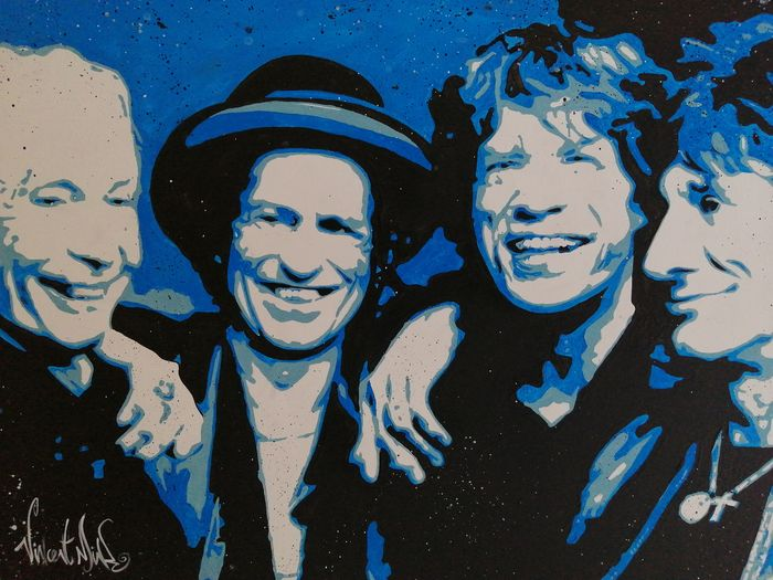 Rolling Stones, Rolling Stones & Related, Vincent Mink - Artwork/ Painting, Acrylic on wooden frame - 2020/2020