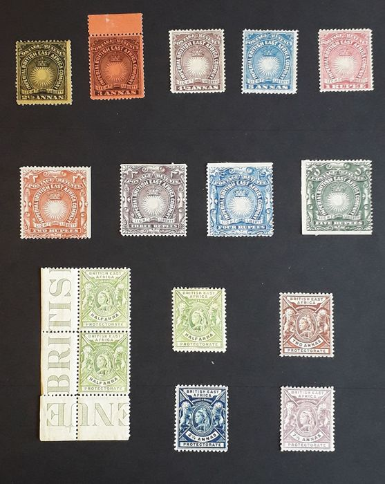 British Colonies in Central Africa as Nrd. and Southern Rhodesia, Nyasaland and Tanzania 1890 - Stanley Gibbons