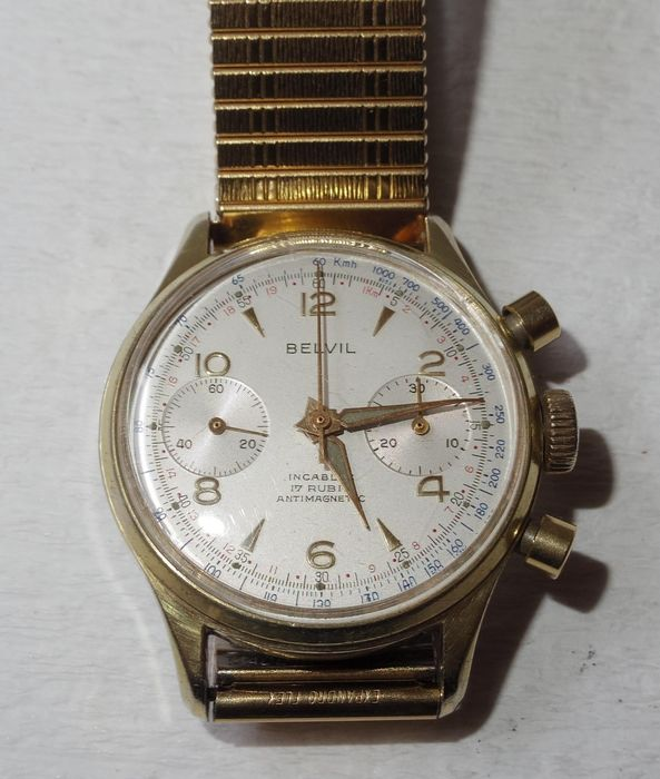 "Belvil - Landeron 248 Chronograph - ""NO RESERVE PRICE"" - Men - 1960-69"