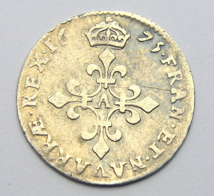 France. Louis XIV (1643-1715). 4 Sols 1675-A, Paris