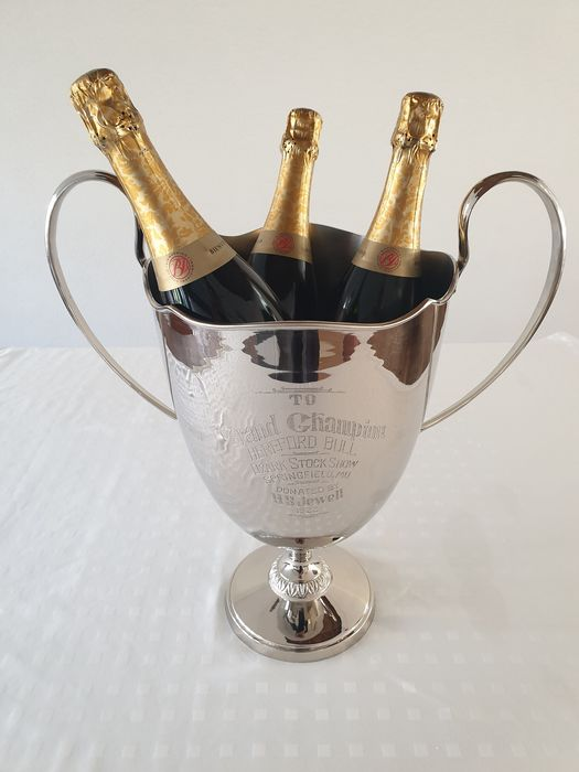 Wine / Champagne cooler 'Trophy' - Silver plated (1) - Silverplate