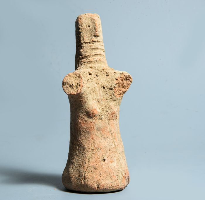 Near East Neolithic Terracotta Female Idol - 13.8×6×5.5 cm